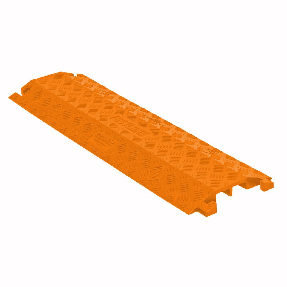 FL1X4-O Orange Extra-Wide 1-Channel Drop-Over FastLane Cable Protector for 1 Diameter Cables