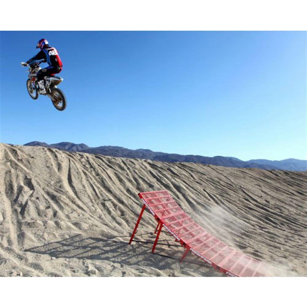 FP-RJ501 Freshparks Ricky Johnson Steel Motocross Ramp - Adjustable Up to 34 High 5