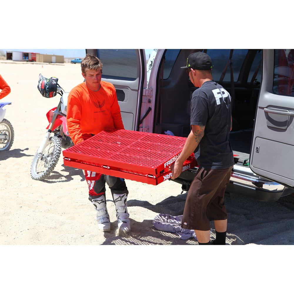 FP-RJ501 Freshparks Ricky Johnson Steel Motocross Ramp - Adjustable Up to 34 High 6