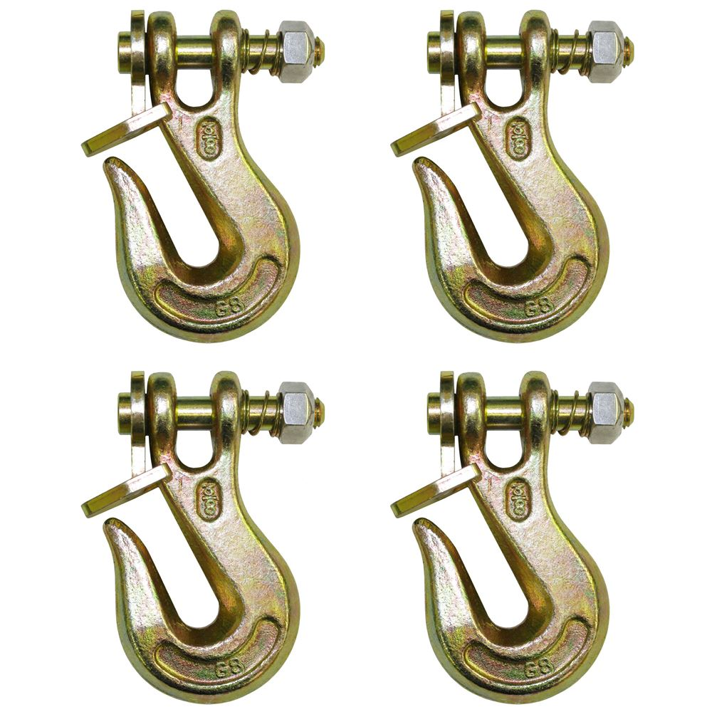G8-200-38-4 4-Pack BA Products 38 Grade 80 Twist Lock Clevis Grab Hook