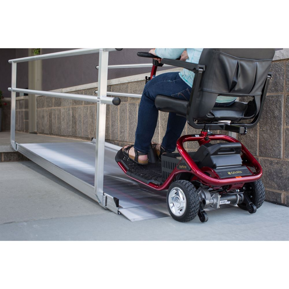 Wheelchair Ramps With Handrails : Ez access gateway aluminum wheelchair ramp with