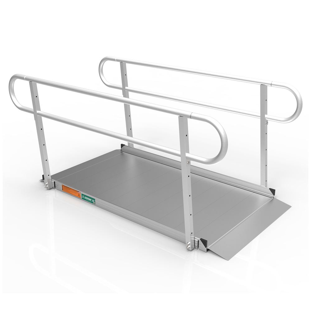GATEWAY3G-Handrail EZ-ACCESS GATEWAY 3G Aluminum Wheelchair Access Ramp with Handrails