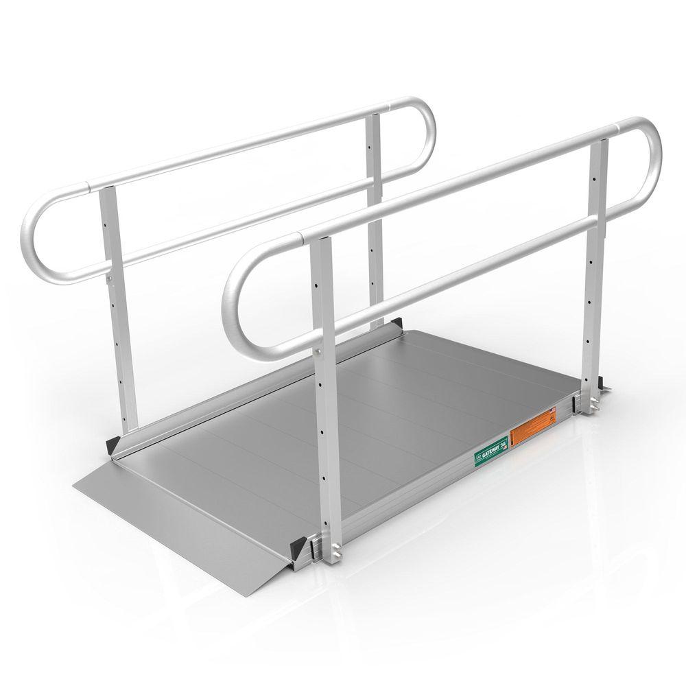 GATEWAY3GTLHR05 5 L x 3 W EZ-ACCESS GATEWAY 3G Aluminum Wheelchair Access Ramp with Two-Line Handrails
