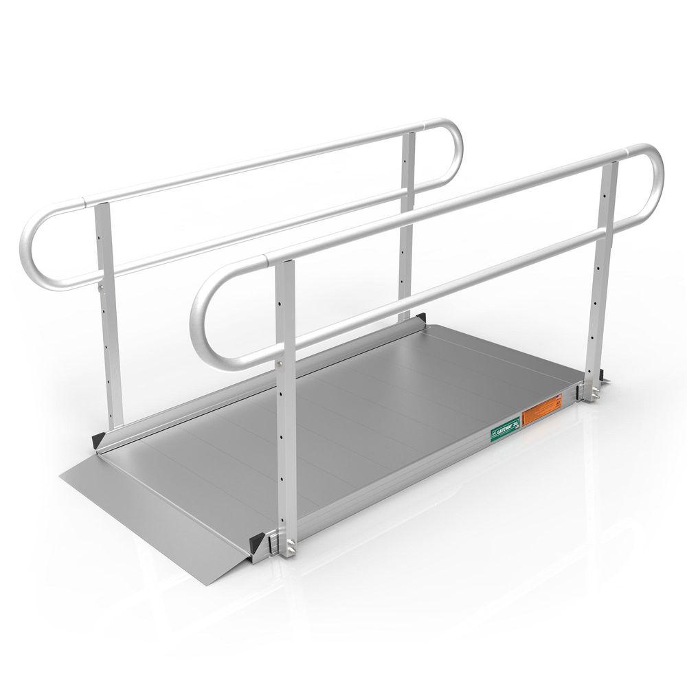 GATEWAY3GTLHR06 6 l x 3 W EZ-ACCESS GATEWAY 3G Aluminum Wheelchair Access Ramp with Two-Line Handrails
