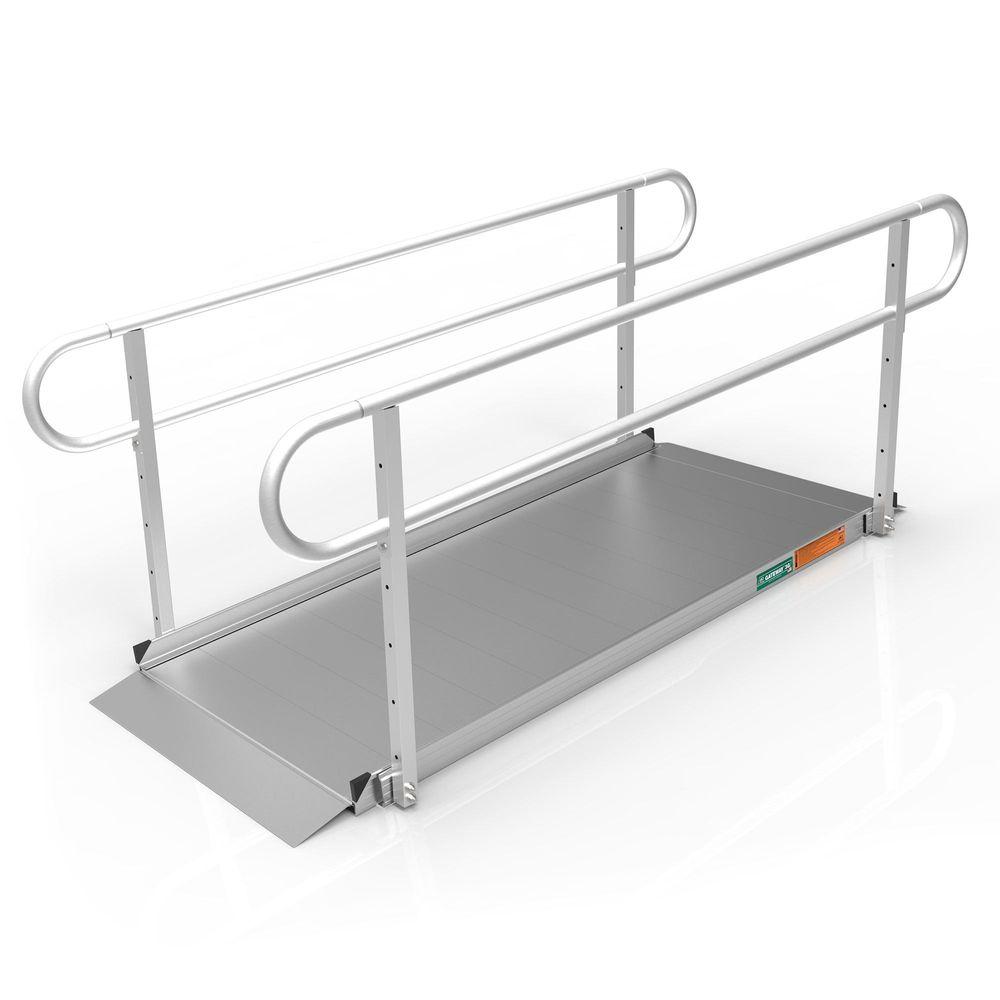 GATEWAY3GTLHR07 7 L x 3 W EZ-ACCESS GATEWAY 3G Aluminum Wheelchair Access Ramp with Two-Line Handrails