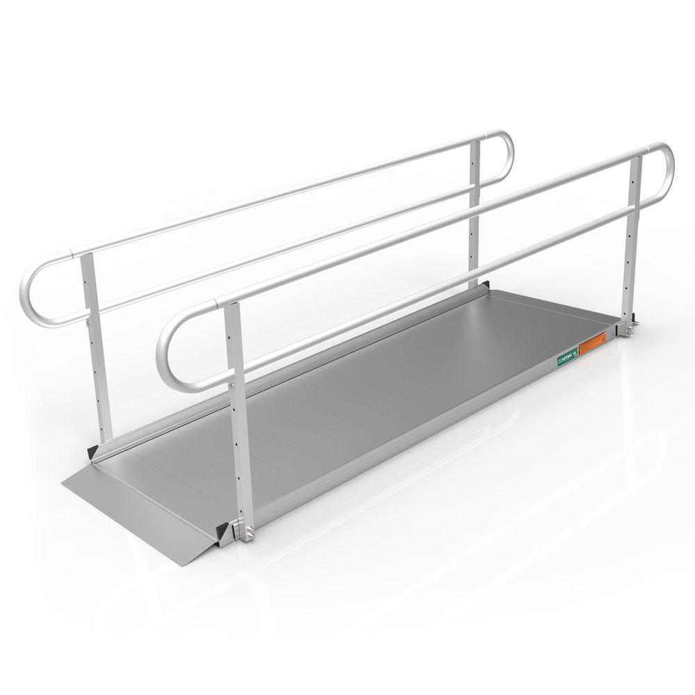 GATEWAY3GTLHR09 9 L x 3 W EZ-ACCESS GATEWAY 3G Aluminum Wheelchair Access Ramp with Two-Line Handrails