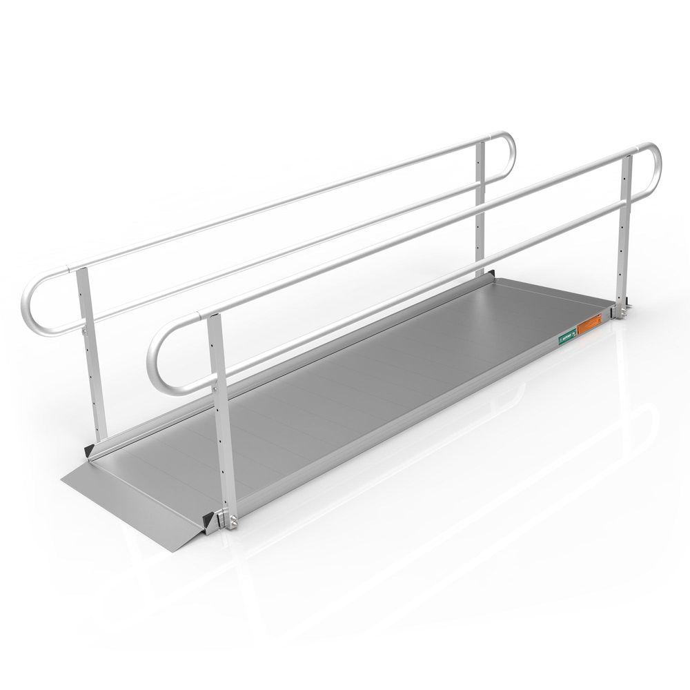 GATEWAY3GTLHR10 10 L x 3 W EZ-ACCESS GATEWAY 3G Aluminum Wheelchair Access Ramp with Two-Line Handrails