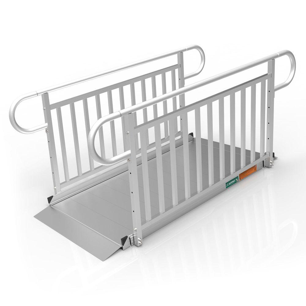 GATEWAY3GVPHR06 6 l x 3 W EZ-ACCESS GATEWAY 3G Aluminum Wheelchair Access Ramp with Vertical Picket Handrails