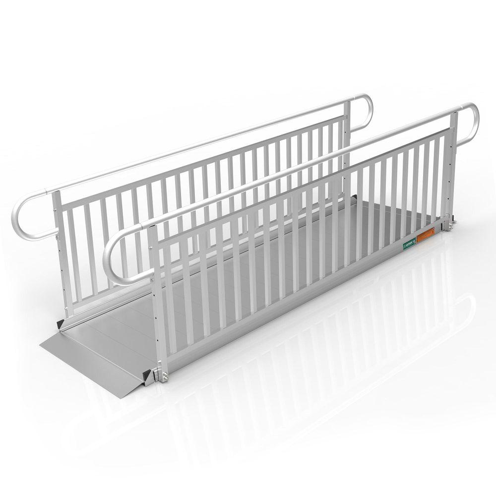 GATEWAY3GVPHR10 10 L x 3 W EZ-ACCESS GATEWAY 3G Aluminum Wheelchair Access Ramp with Vertical Picket Handrails