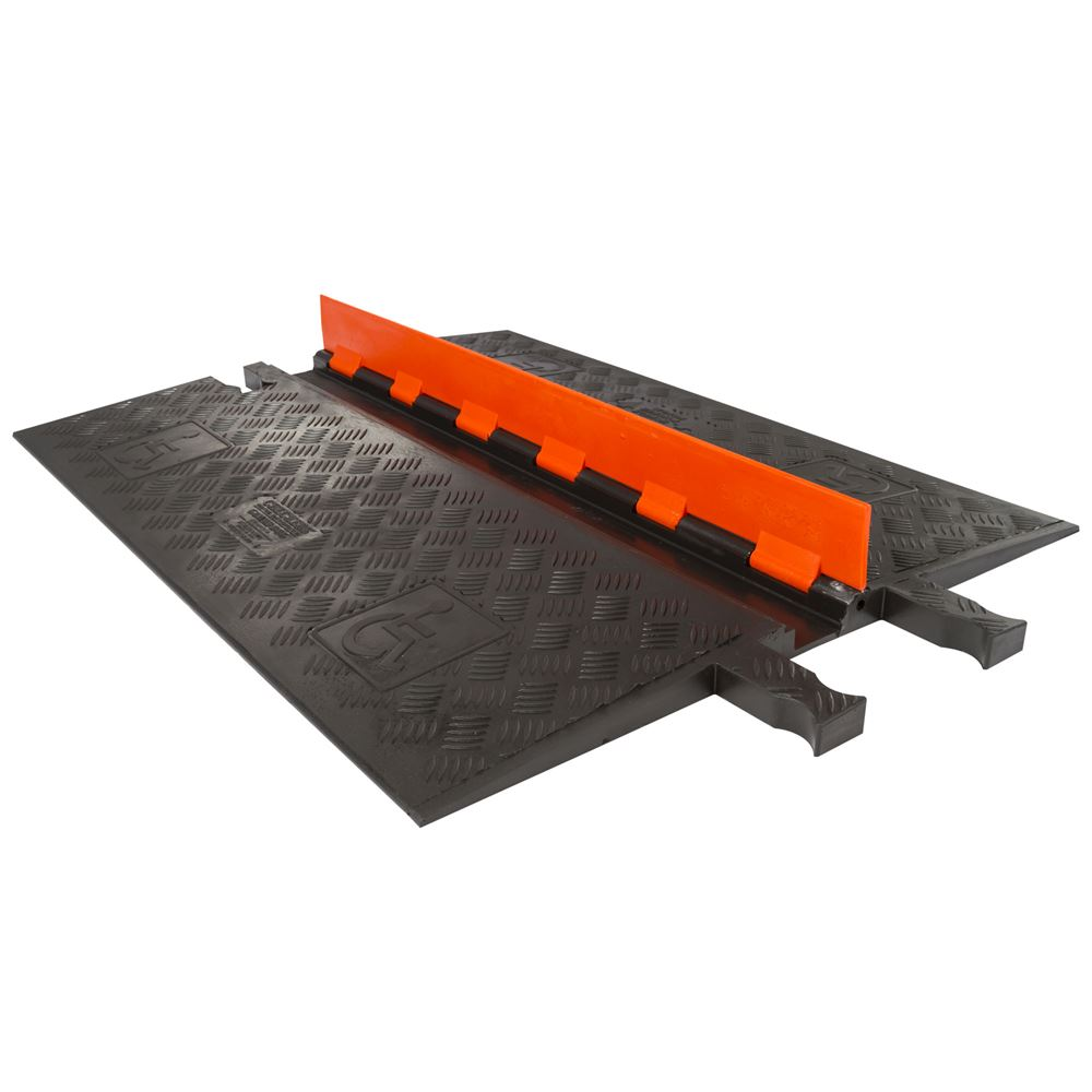 GD1X75-OB OrangeBlack 1-Channel Guard Dog ADA Cable Protector for 34 Diameter Cables