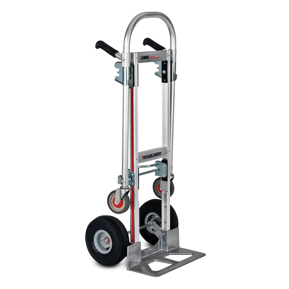 GMK16UA4 Magliner Aluminum Convertible Hand Truck with Double Grip Handle and Pneumatic Wheels