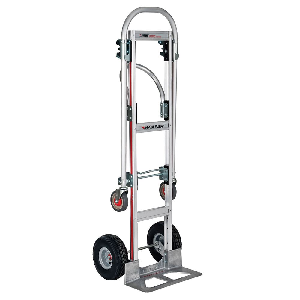 GMK81UA4 Magliner Aluminum Convertible Hand Truck with Angled Loop Handle and Pneumatic Wheels