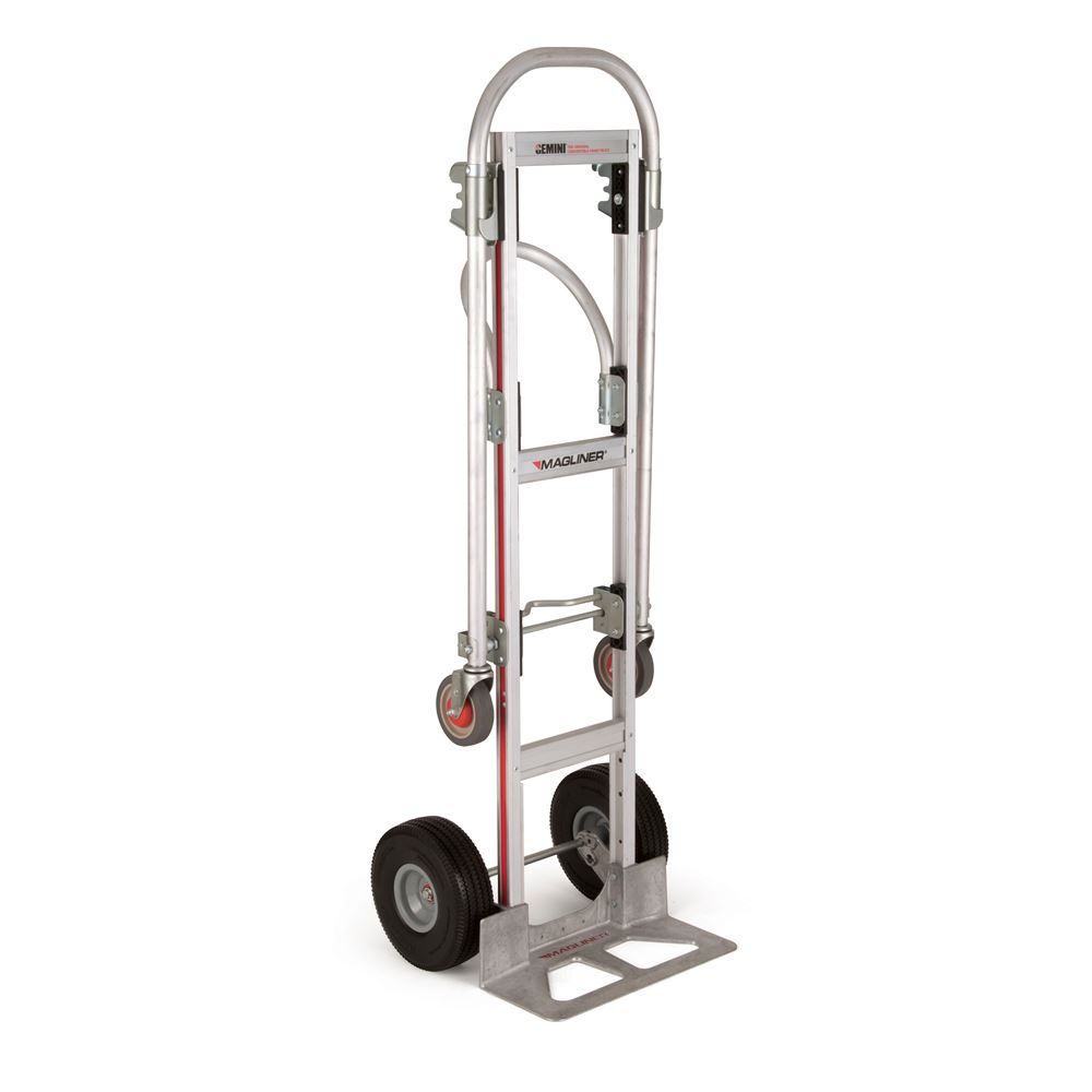 GMK81UAC Magliner Aluminum Convertible Hand Truck with Angled Loop Handle and Microcellular Wheels