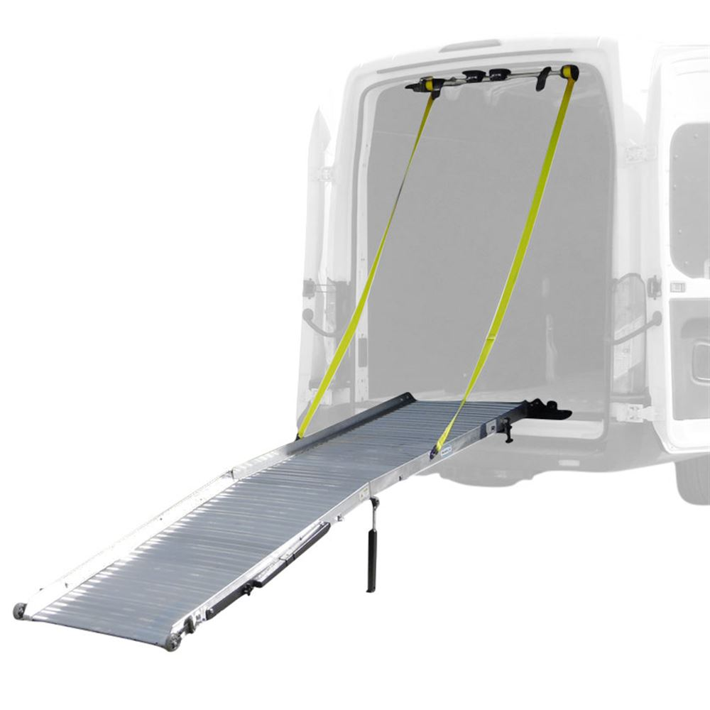 GR3200 10 9-12 Long x 32 Wide - Gramps Aluminum Gated Commercial Van Ramp System