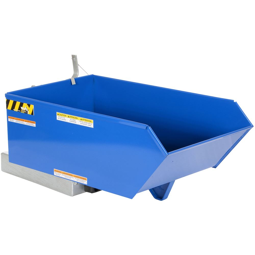 H-25-HD Vestil 14 Cu Yd Heavy-Duty Low-Profile Steel Hopper