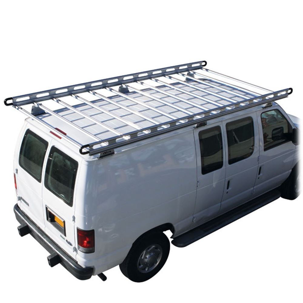 a roof rack econoline sportsmobile for with ford conversion off pin aluminum van road racks