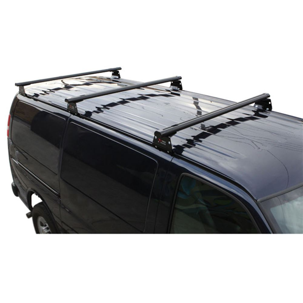 Chevy Express Van >> Vantech H3 Aluminum Chevy Express Roof Racks With End Caps