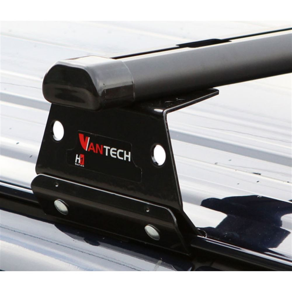 Vantech Aluminum Van Rack for Chevy Express 1996-2013 with End Caps