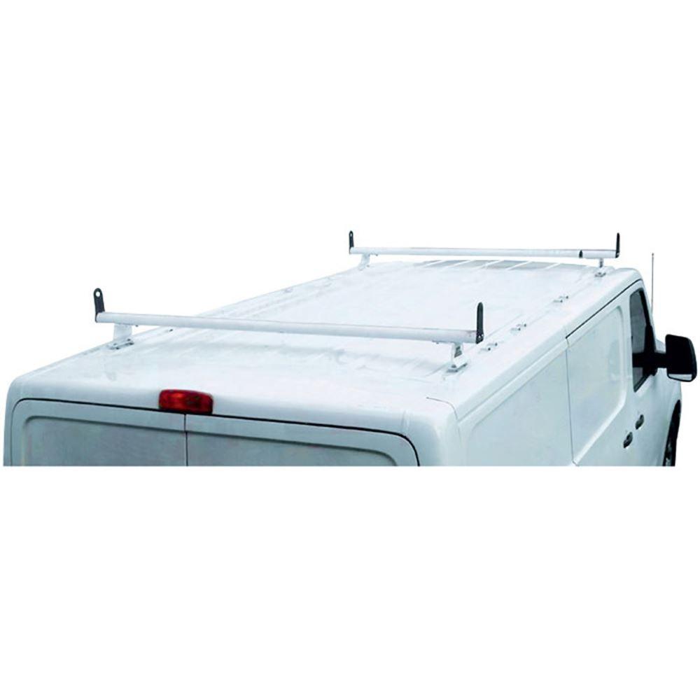 H3325W White Aluminum H3 2 Bar Ladder Roof Rack Cross Bars with End Caps for Nissan NV