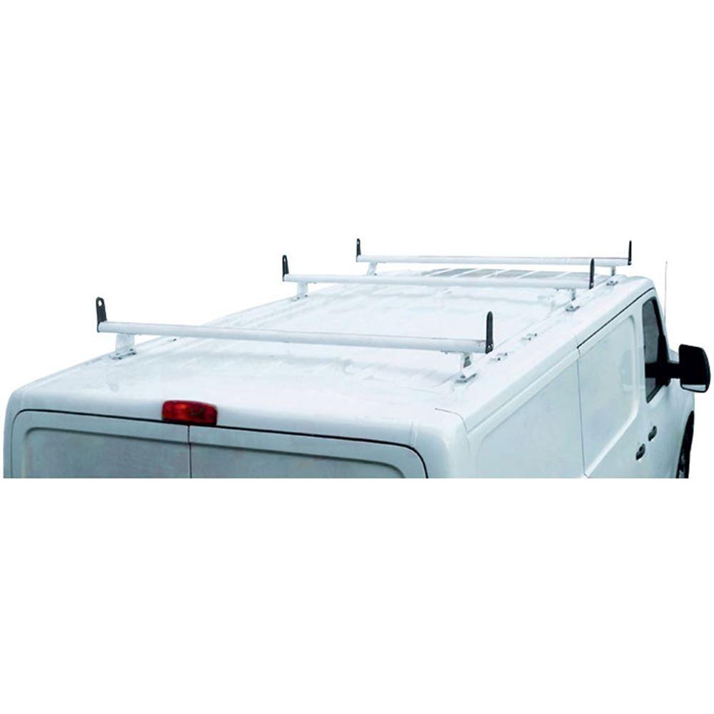 H3326W White Aluminum H3 3 Bar Ladder Roof Rack Cross Bars with End Caps for Nissan NV