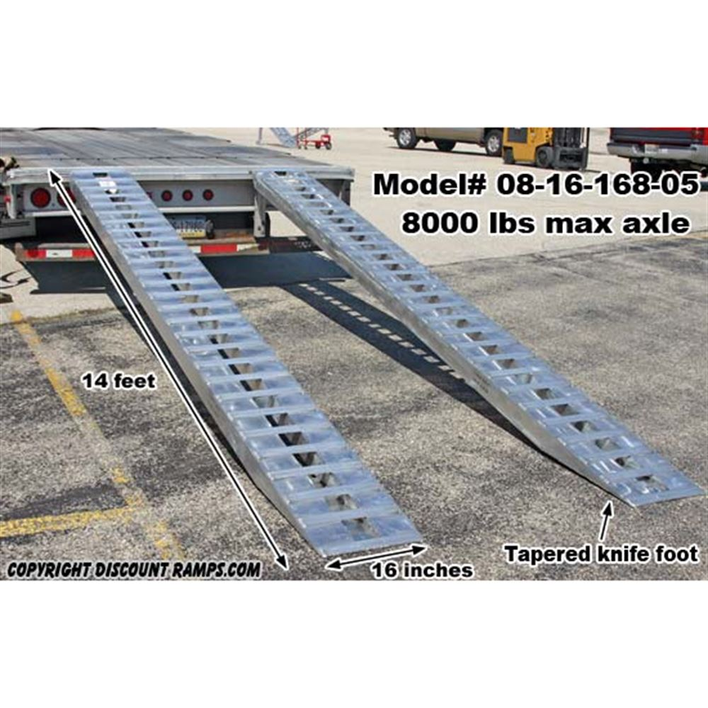HDTR-H Heavy Duty Aluminum Hook End Car Trailer Ramps - 8000 - 12000 lb per axle Capacities 3