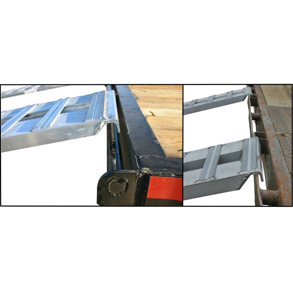 HDTR-H Heavy Duty Aluminum Hook End Car Trailer Ramps - 8000 - 12000 lb per axle Capacities 4