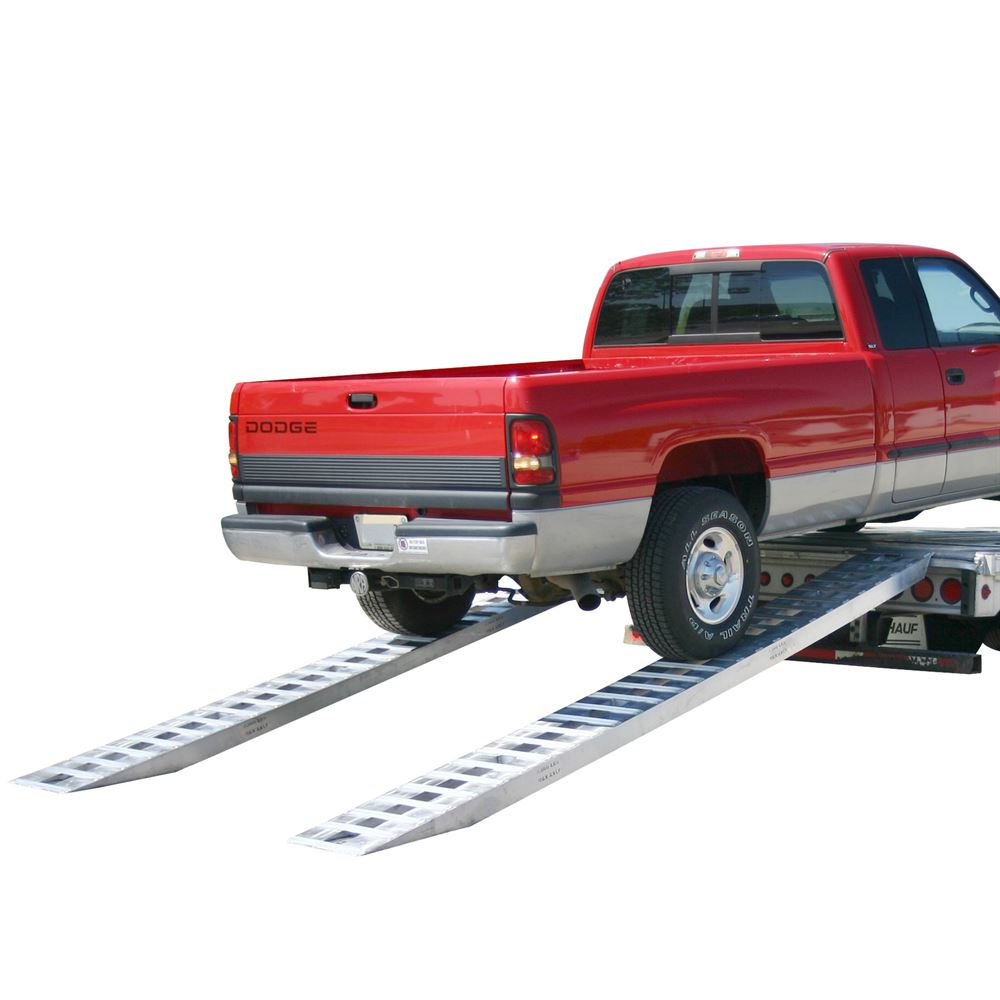 HDTR-P Heavy Duty Aluminum Pin-On End Truck Trailer Ramps - 8000 10000  12000 lb per axle Capacities
