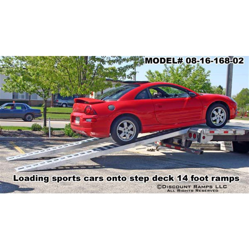 HDTR-P Heavy Duty Aluminum Pin-On End Truck Trailer Ramps - 8000 10000  12000 lb per axle Capacities 3