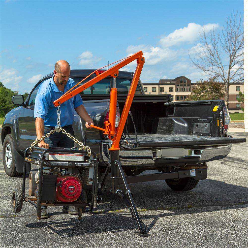 Pickup Truck Ramps >> Apex Hydraulic Receiver Hitch Crane - 1,000 lb. Capacity | Discount Ramps