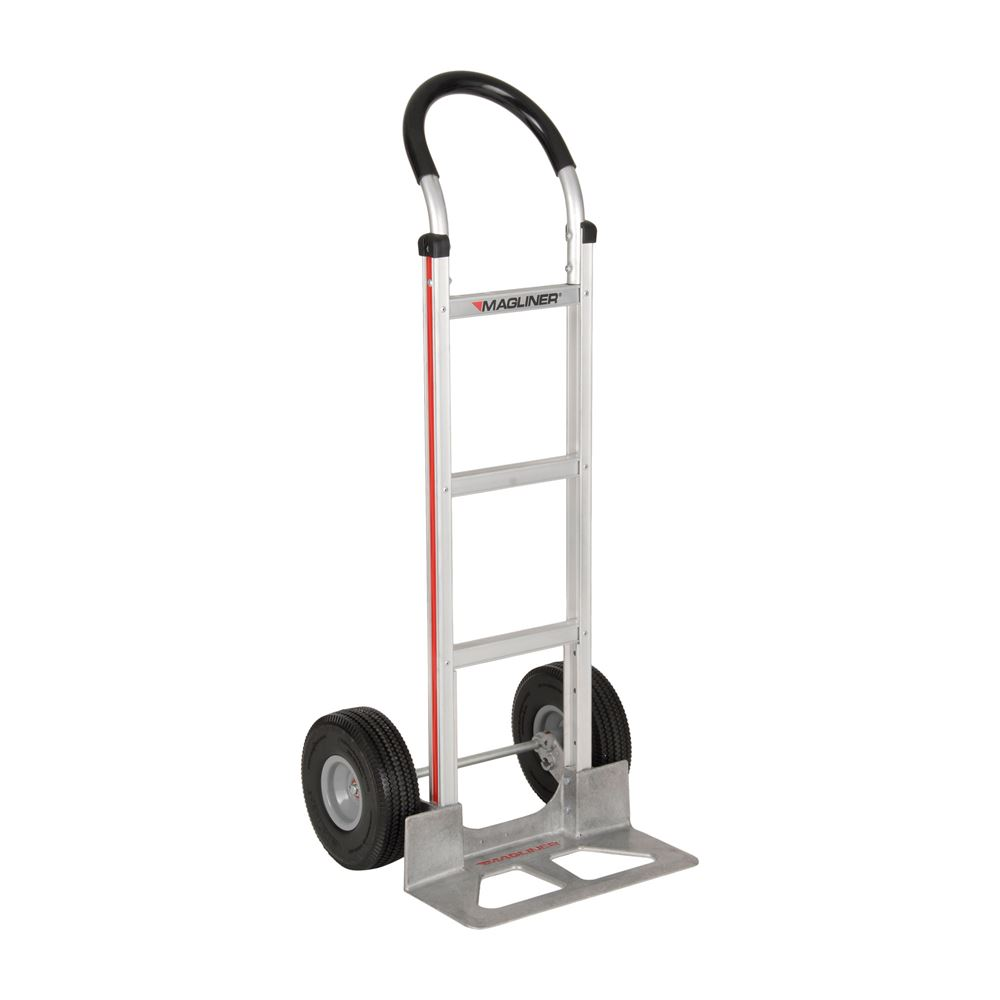 HMK119UAC Magliner Aluminum Hand Truck with Standard Loop Vinyl Handle and 10 Microcellular Wheels