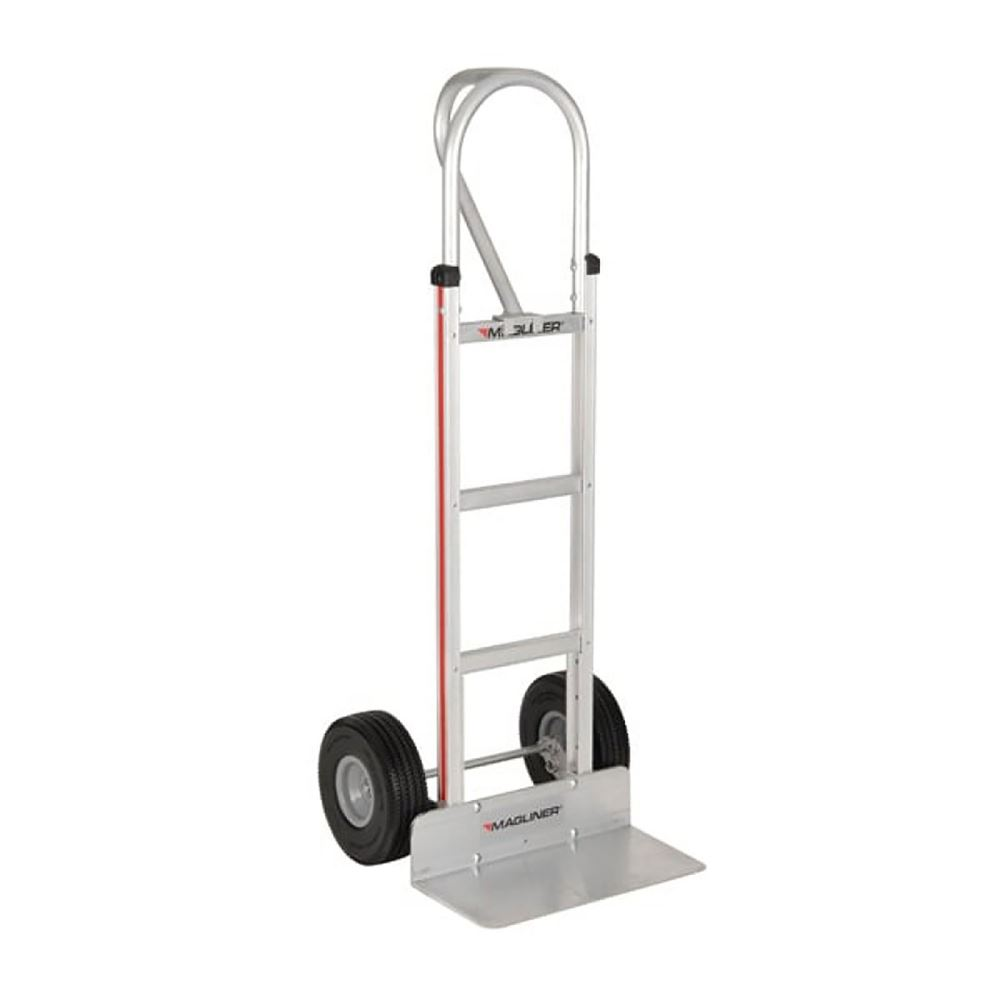 HMK15AG2C Magliner Aluminum Hand Truck with Extruded 18x9 Aluminum Nose and 10 Microcellular Wheels