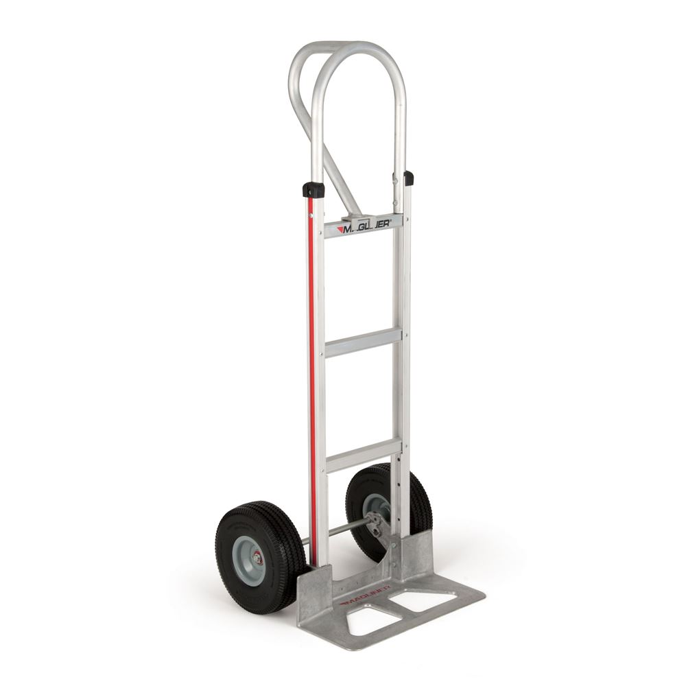 HMK15AUAC Magliner Aluminum Hand Truck with Die-Cast 18x7-12 Aluminum Nose and 10 Microcellular Wheels