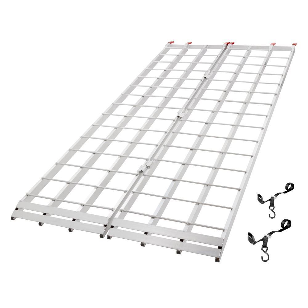 IBF-9444 7 10 L x 44 W Black Widow Aluminum Extra-Long Bi-Fold ATV Ramp