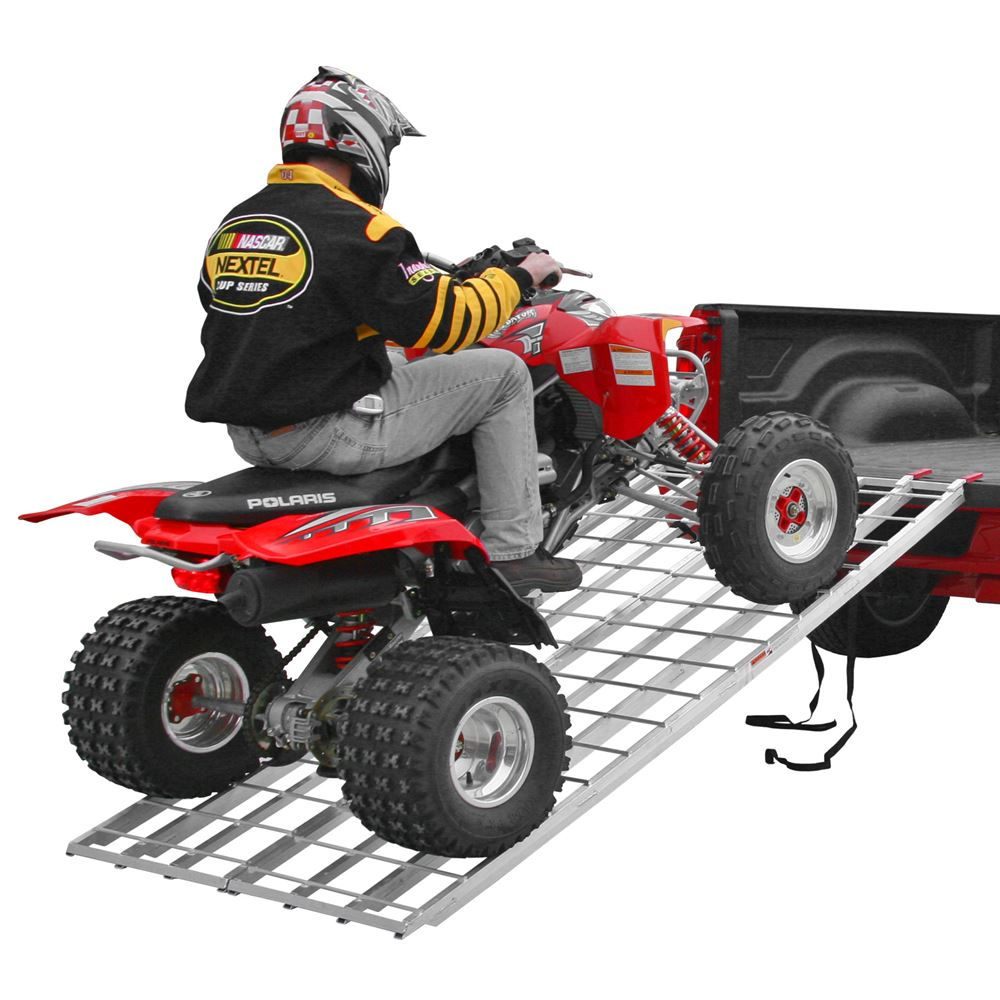 IBF-Bifold Black Widow Aluminum Extra-Long Bi-Fold ATV Ramp 1