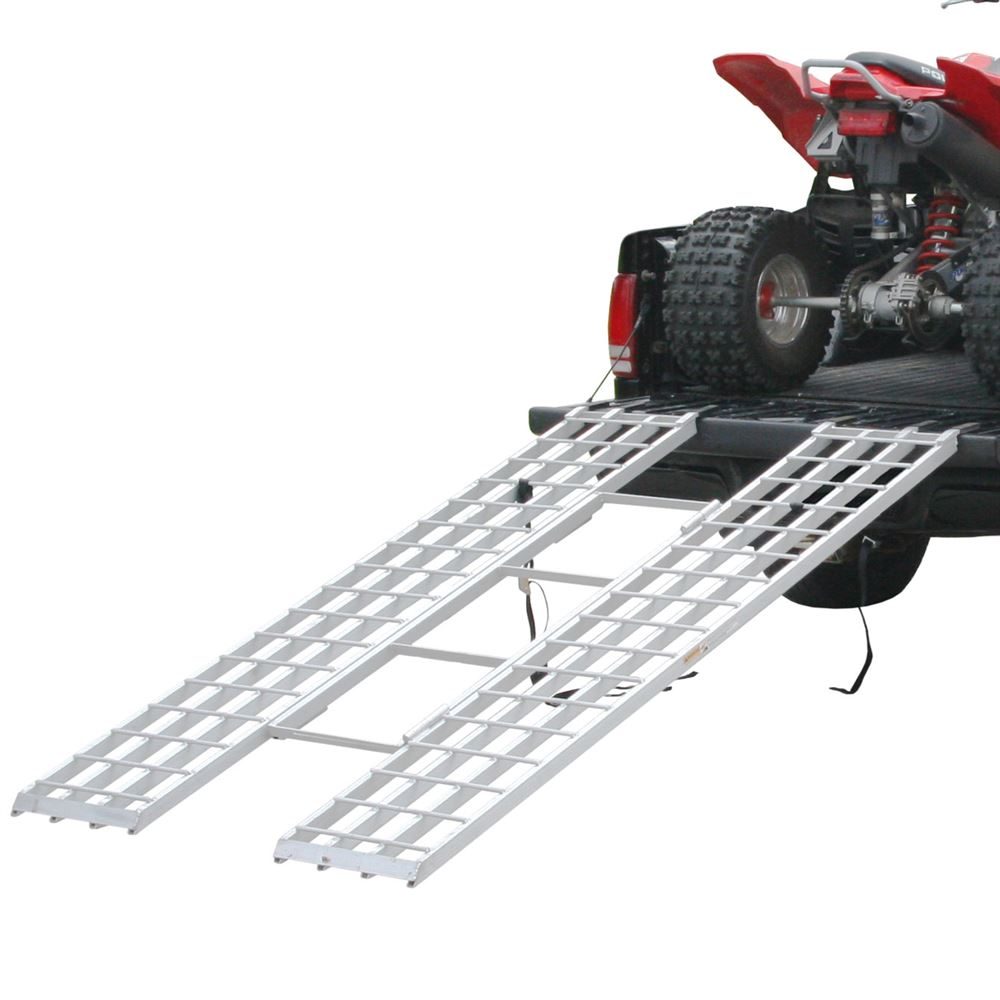 Atv Truck Ramps >> 4 Beam Aluminum Extra Long Tri Fold Atv Ramp 7 1 Long Discount