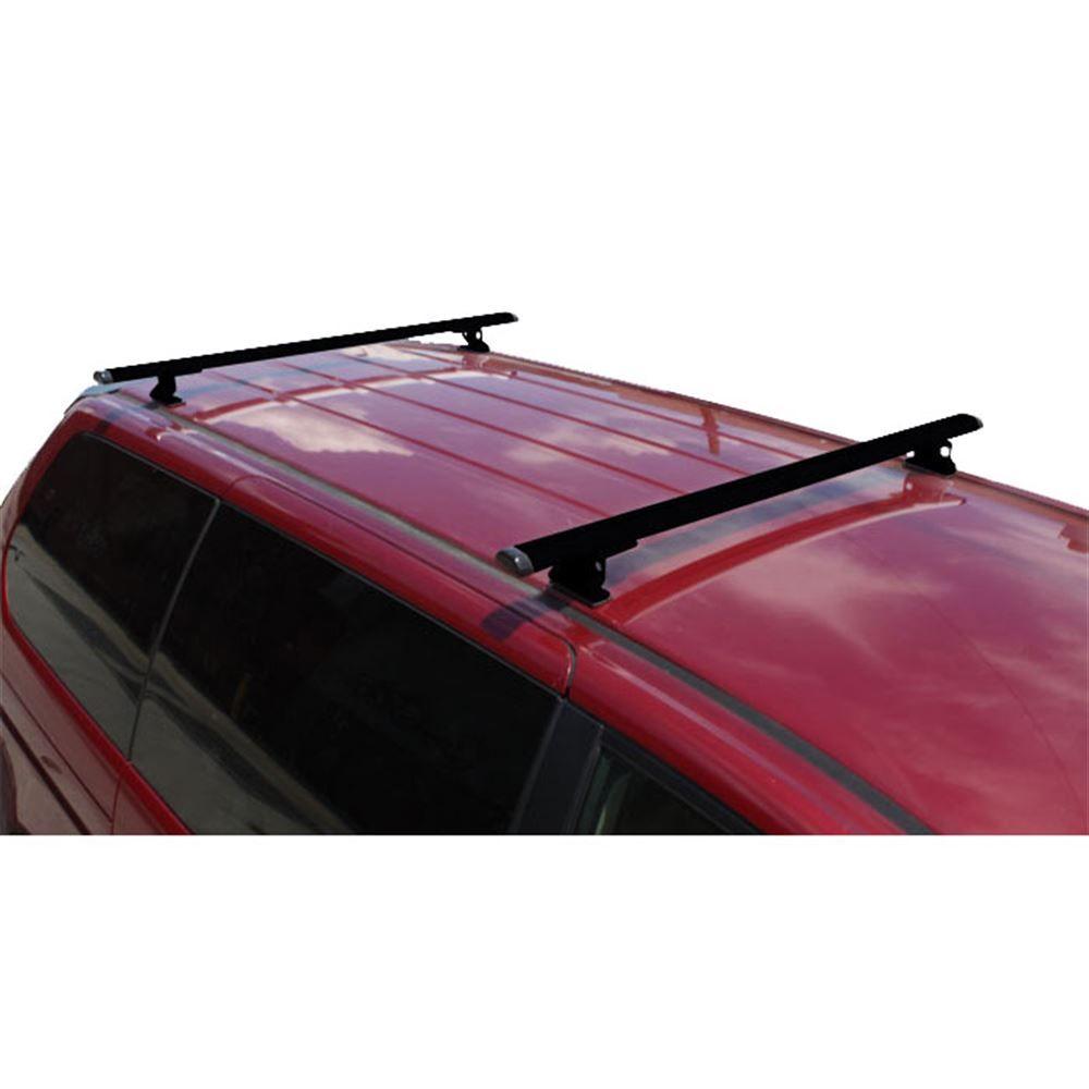 J1010B Black 55 W Aluminum Universal J1000 Ladder Roof Van Rack System