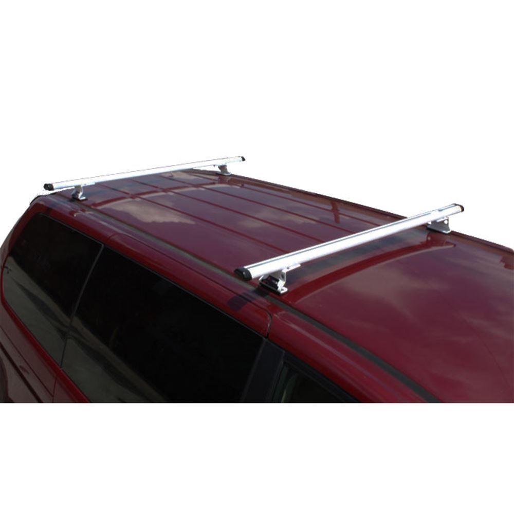 J1010S Silver 55 W Aluminum Universal J1000 Ladder Roof Van Rack System