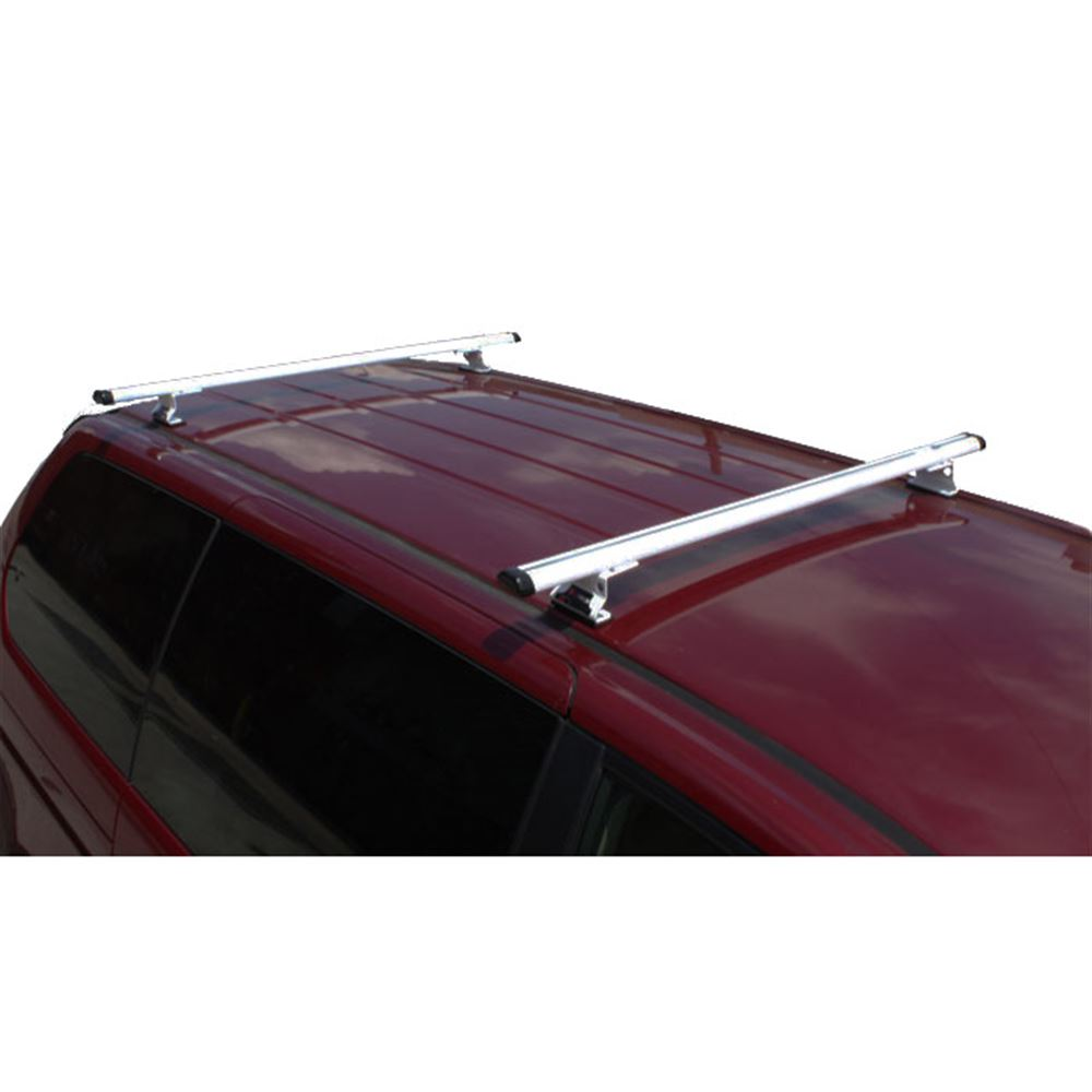 J1010W White 55 W Aluminum Universal J1000 Ladder Roof Van Rack System