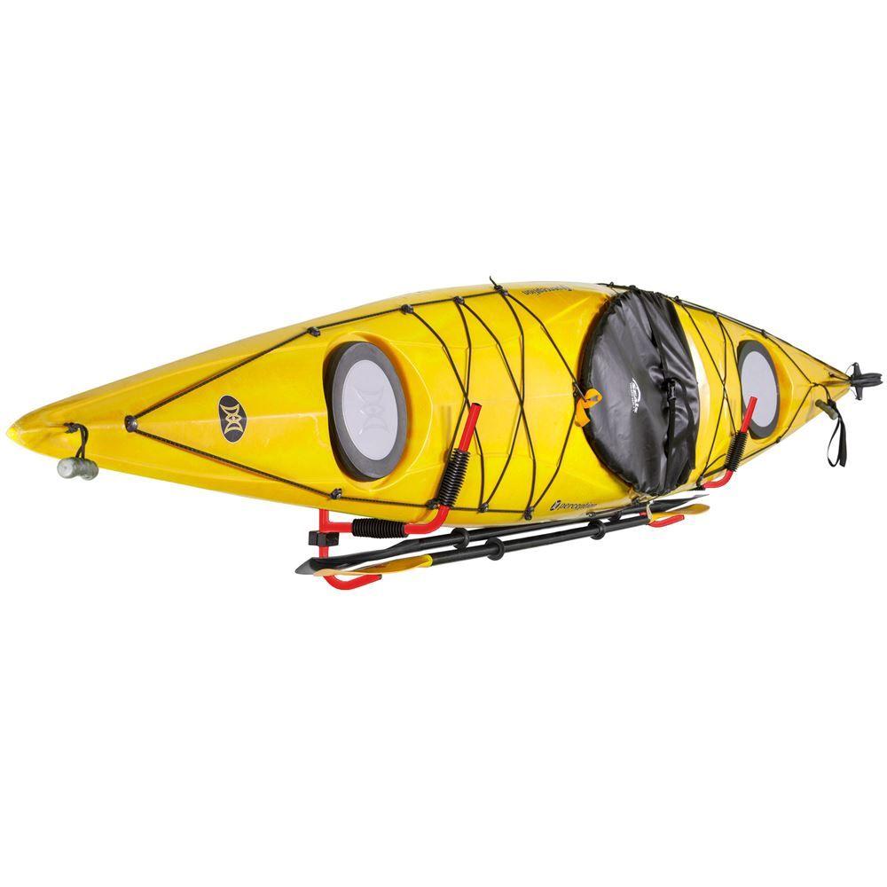 K-WR Elevate Outdoor Kayak Storage Rack with Paddle Hooks