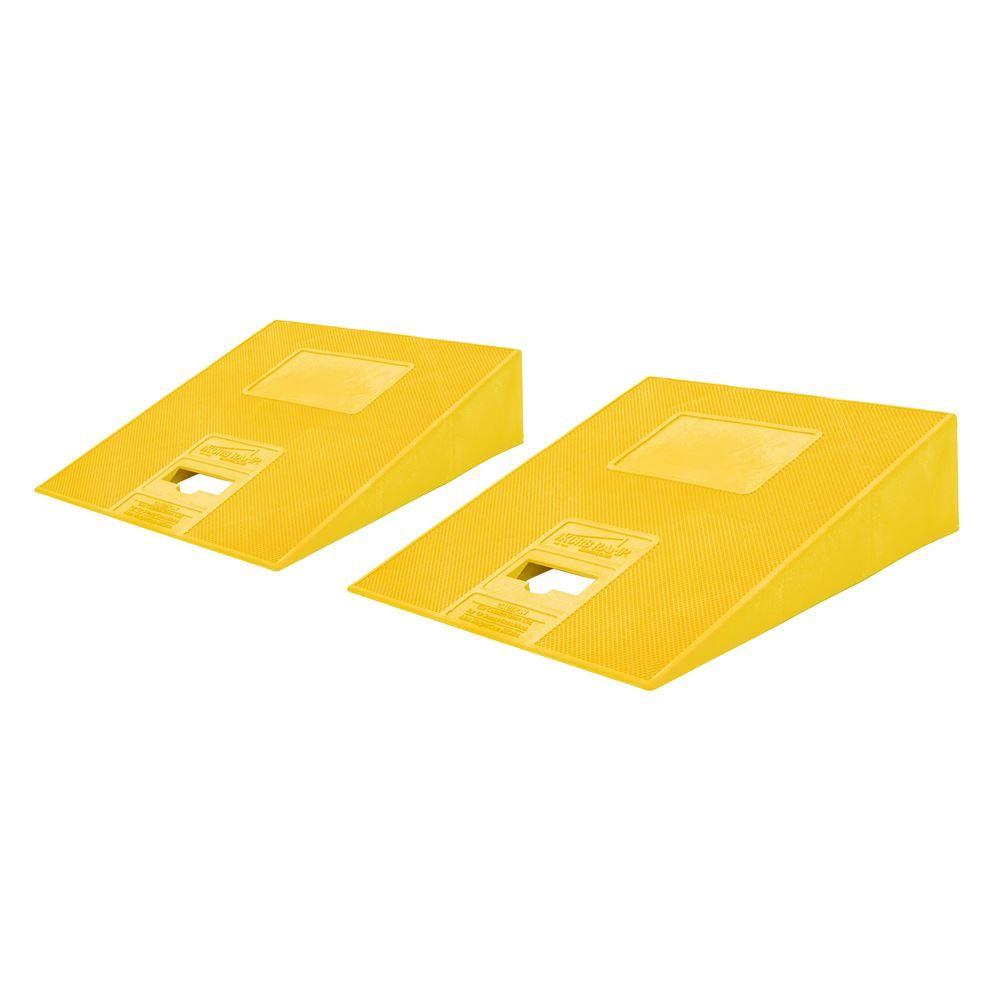 KURB-RAMP-YELLOW-PAIR Set of Yellow Kurb Ramp Plastic Curb Ramps