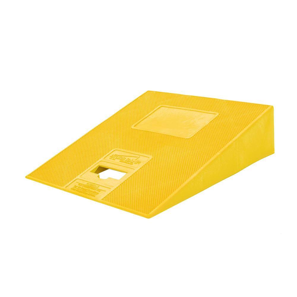 KURB-RAMP-YELLOW Yellow - Kurb Ramp Plastic Curb Ramp