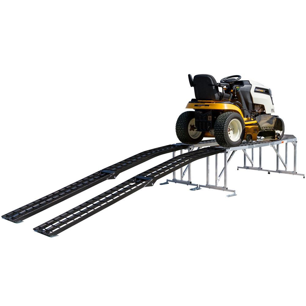 Garden Tractor Work Stand : Lawn tractor service work stand for mowers with decks