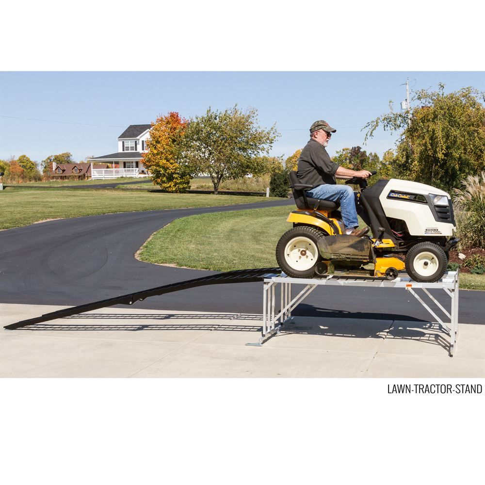 Garden Tractor Stand : Lawn tractor service work stand for mowers with decks