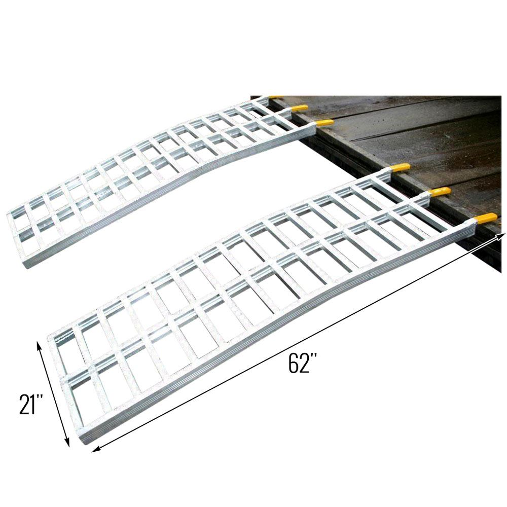 Great Day Aluminum Arched Dual Runner Lawn Mower Ramps 5
