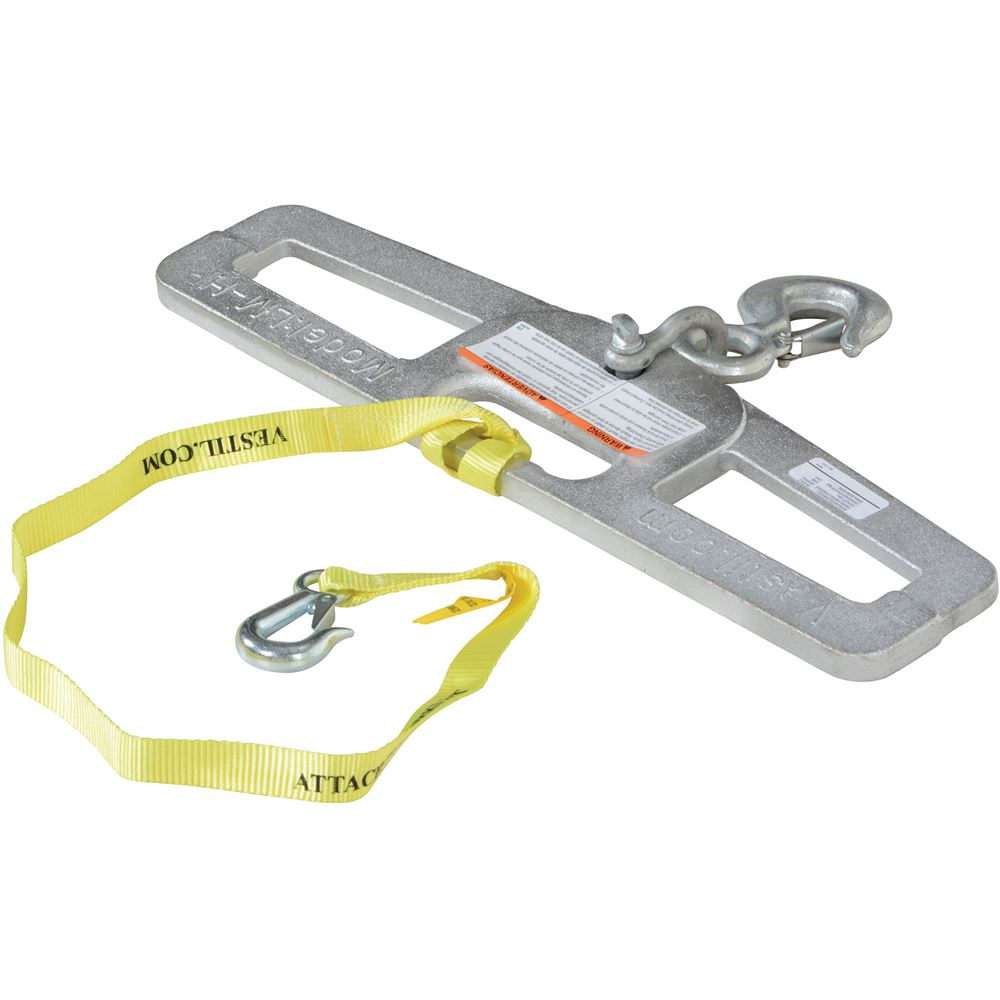 LM-HP4-R Vestil Rigid Lift Master Hook Plate - 4000 lb Capacity