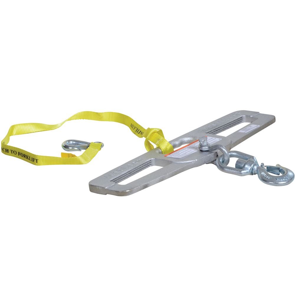 LM-HP4-S Vestil Swivel Lift Master Hook Plate - 4000 lb Capacity