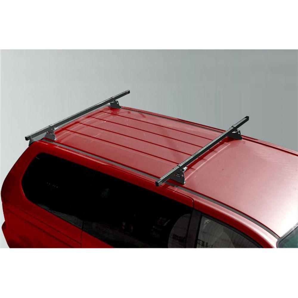 M1075B Black Universal Steel M1000 ladder roof van rack w 84 Bars