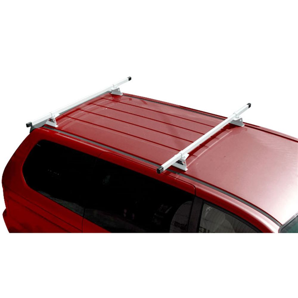M1075W White Universal Steel M1000 ladder roof van rack w 84 Bars