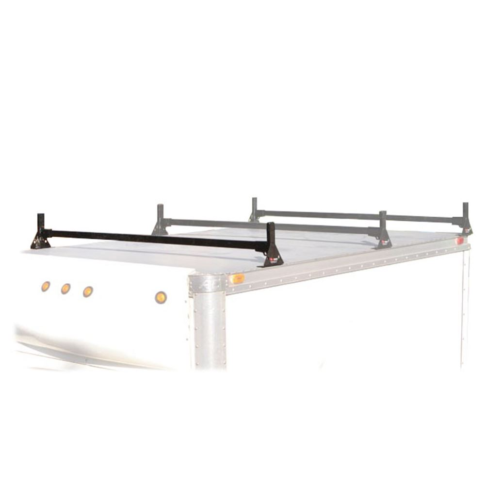 M2212B Black Aluminum 60 L Vantech Box Truck 1 Bar M-Series Ladder Roof Van Rack System
