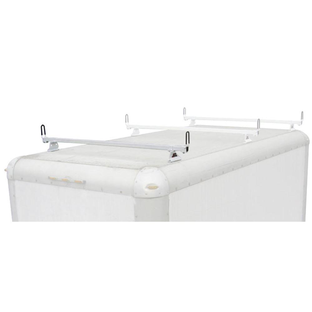 M2212W White Aluminum 60 L Vantech Box Truck 1 Bar M-Series Ladder Roof Van Rack System